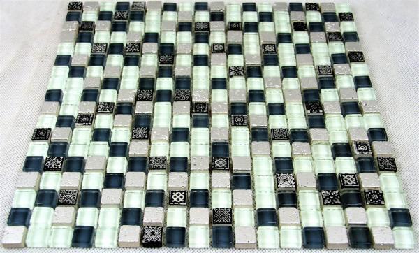 Mosaikfliesen Fliesen Mosaik Glas Glanzend Grau Silber Bad Wc Kuche 8mm Neu S26 Heim Garten Fliesen Wand Boden Restposten24 210000 Restposten 45000 Handler Sonderposten Und Konkursware Von Grosshandlern