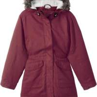 Kids girls jacket transition jacket with hooded red children's fashion